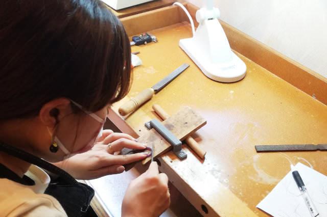 self make original ring (手作りオリジナルリングの流れ3)