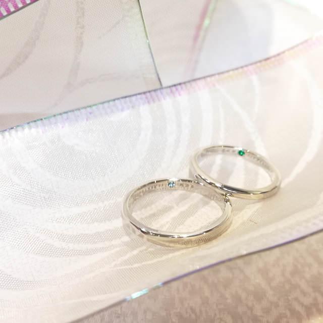 pair ring example (手作りペアリング作品例3)